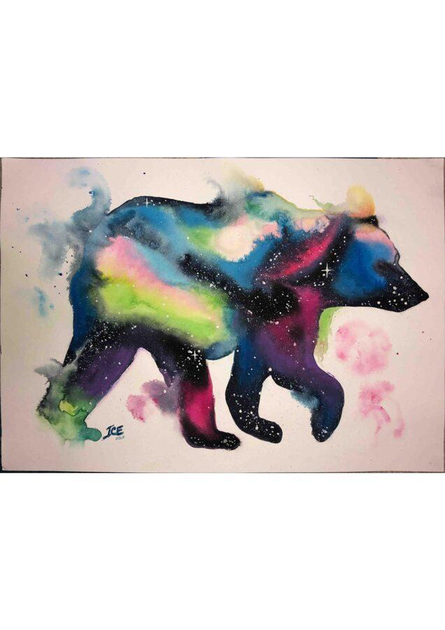 """D.Rudāne - glezna """"Miega sargs Polārlācis"""""""