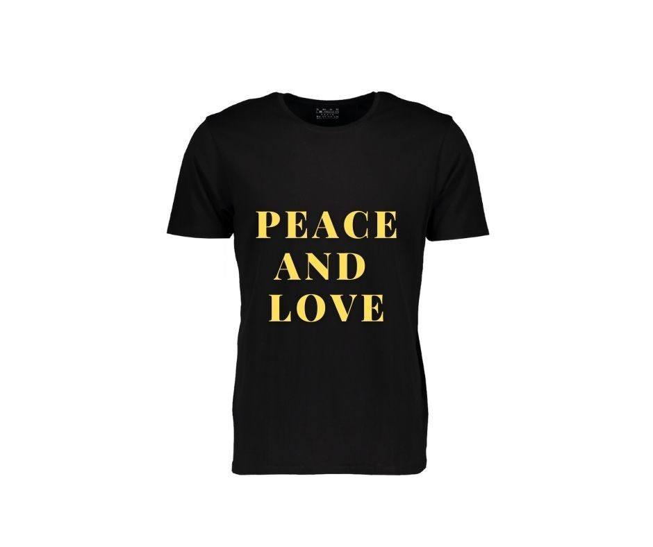 Peace And Love T-shirt gold mate