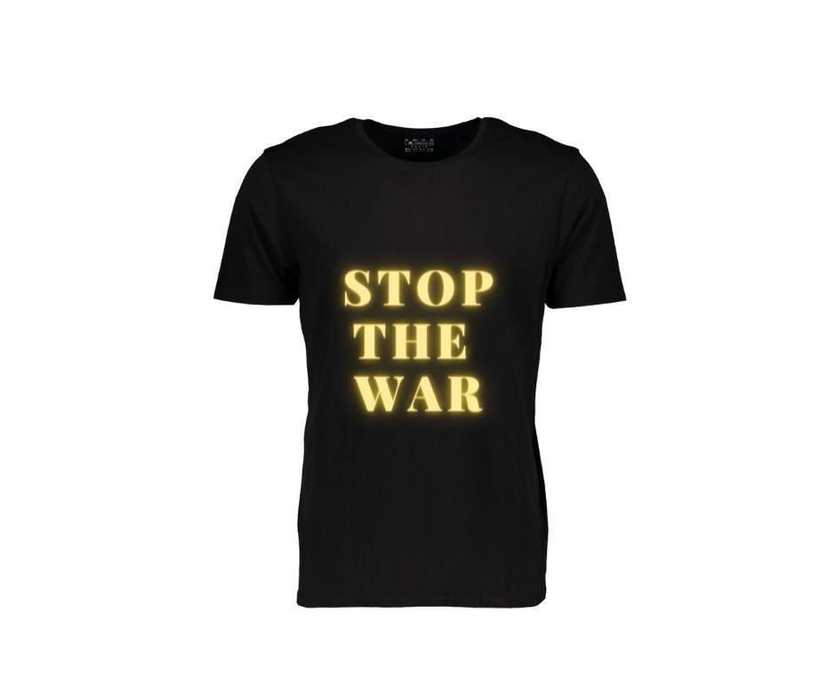 Stop The War T-shirt gold