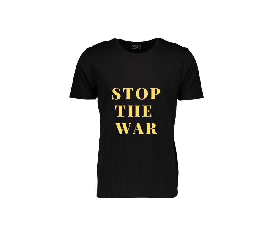 Stop The War T-shirt gold mate