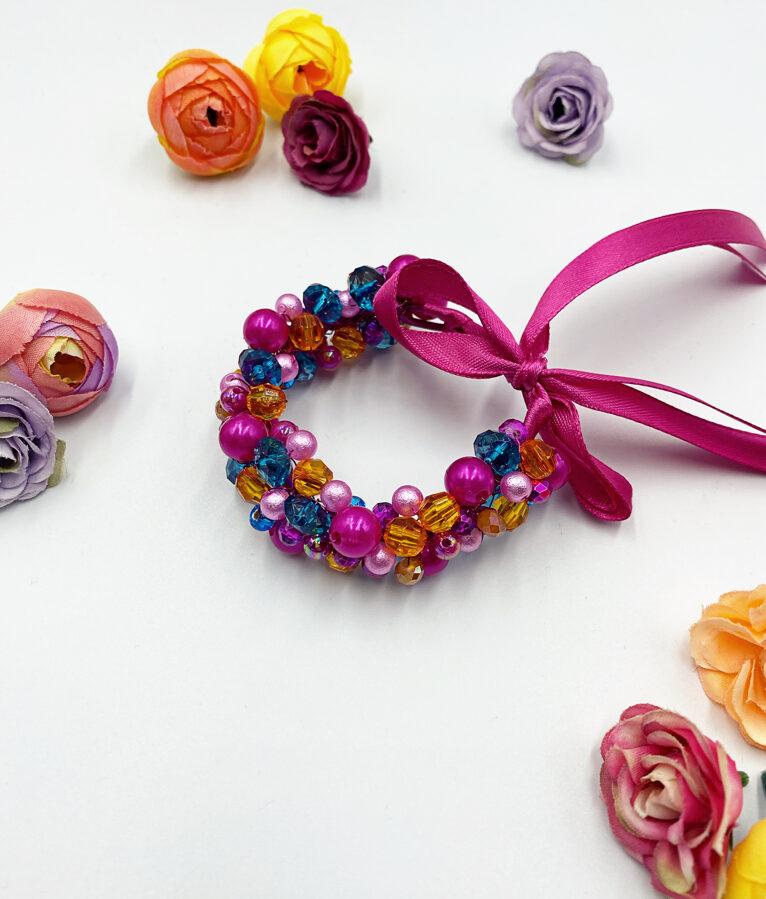 Ievas Sutugovas multi rozā rokassprādze