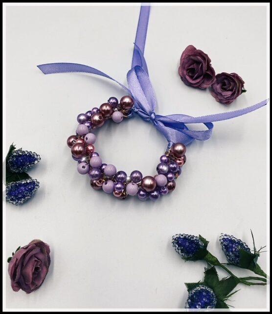 Ievas Sutugovas rozā violeta rokassprādze