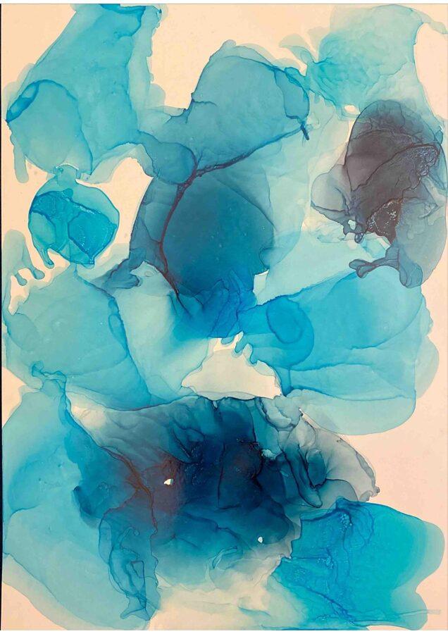 "D.Rudāne - abstrakcija  ""Okeāna Lāses"""