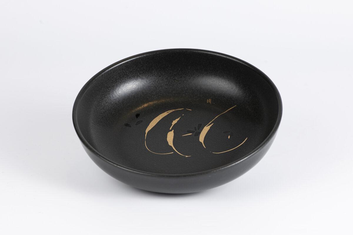 Igo bļodiņa ar zelta ābola šķēlēm melna krāsa
