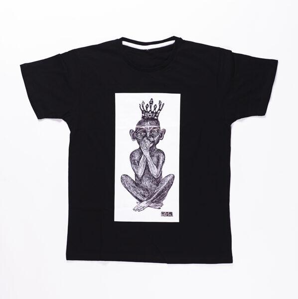 Elitas Patmalnieces T-krekls melns, mērkaķis rāmī
