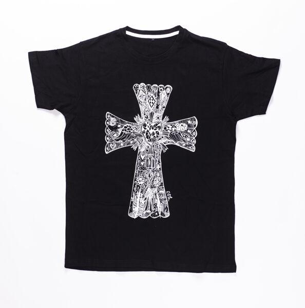 Elitas Patmalnieces T-krekls melns, balts krusts