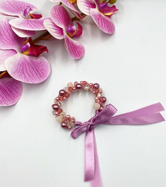 Ievas Sutugovas rozā rokassprādze