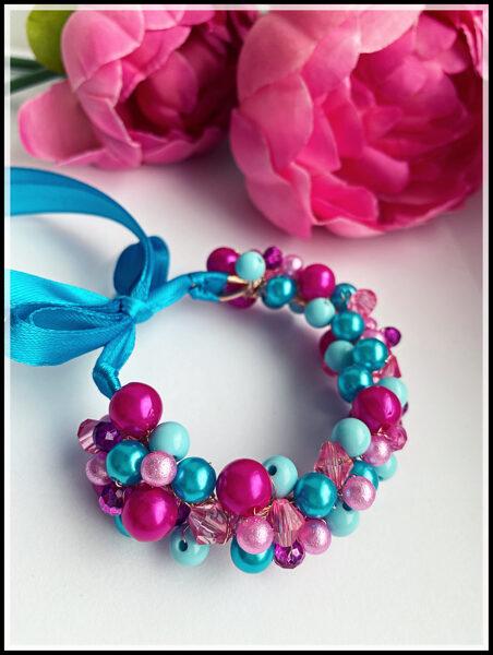 Ievas Sutugovas zili rozā rokassprādze