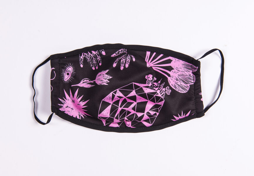 Elitas Patmalnieces sejas maska - melna ar rozā